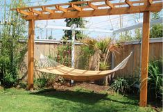 diy pergola hammock stand - Google Search