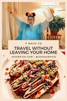 7 exciting ways to travel without leaving your home ... or putting on pants! Disneyland Rides, Cook Up A Storm, Ways To Travel, Travel Around The World, Leaves, Posts, Blog, Messages