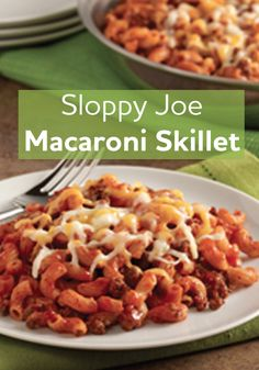 This Sloppy Joe Macaroni Skillet is quick and easy for a delicious week night meal.