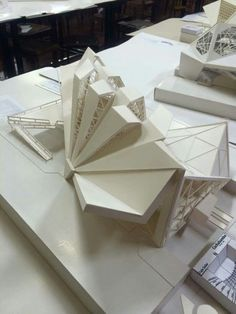 New Ideas Origami Architecture Sketch Folding Architecture, Maquette Architecture, Architecture Model Making, Parametric Architecture, Modern Architecture Design, Industrial Architecture, Architecture Portfolio, Residential Architecture, Amazing Architecture