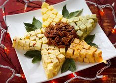 """Cheesy"" Christmas Star :) Fill the center w a cheese spread, dip or nuts"