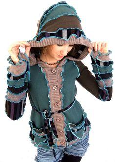 Strickjacke-Pixie-Hoodie  Stripey Sweater  klein von Fairytea