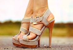 I adore these taupe shoes