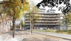 Perspective lylo pour  Brenas-Doucerain architectes - logements Zac de Bonne à Grenoble