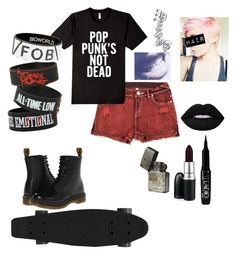 """""""Today I Saw The Whole World"""" by rawr-the-dinosaur ❤ liked on Polyvore featuring Dr. Martens, Retrò, Bling Jewelry, MAC Cosmetics, ULTA and Lime Crime"""