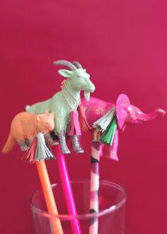 野生動物鉛筆トッパー