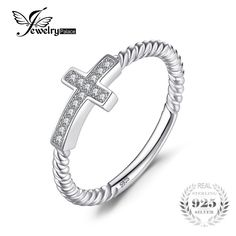 Cheap ring fashion, Buy Quality ring for directly from China rings for women Suppliers: JewelryPalace Cross Round Cubic Zirconia Peace Statement Ring For Women Jewelry Real 925 Sterling Silver Fashion Women Jewelry Silver Jewelry, Fine Jewelry, Silver Rings, Women Jewelry, Jewelry Rings, Sterling Silver Cross, Silver Metal, 925 Silver, Cubic Zirconia Rings