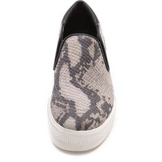 Ash Jungle Printed Slip On Sneakers - Taupe/Black ($105) ❤ liked on Polyvore featuring shoes, sneakers, zapatillas, black slip on shoes, platform slip-on sneakers, black platform sneakers, black slip-on sneakers and slip-on sneakers