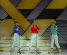 This has got to be the kitschiest Eurovision winner ever, and that's why it's so perfect. This is Sweden's 1984 entry. How could this not win? Herreys - Diggiloo Diggiley