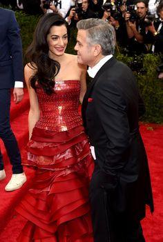 George and Amal Clooney at the Met Gala 2015 | POPSUGAR Celebrity