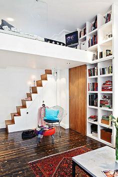 Lit mural on pinterest murphy beds murale and armoire lit escamotable - Etagere escalier ikea ...