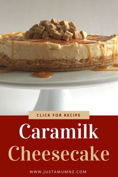 Delicious Caramilk Cheesecake, a divine way to use the chocolate. So simple to make using every day ingredients and the Carbury favourite. The best dessert! Fun Desserts, Dessert Recipes, Pudding Recipes, Cheesecake Desserts, Frozen Desserts, Summer Desserts, Dessert Ideas, Delicious Desserts, Yummy Food