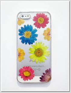 iPhone 5 case Resin with Real Flowers Daisy by Annysworkshop, $18.00