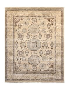 "Khotan Hand-Woven Rug (8'x10'1"") by FJ Kashanian at Gilt"