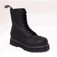 Grinders Bulldog Boot - Black Leather