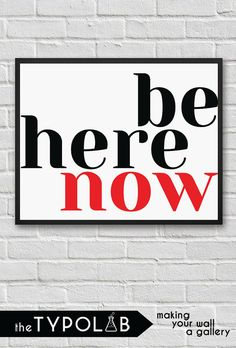 Be Here Now/ Motivational Inspiring Quote/Typography print poster/ Minimalist Office Art/ Scandinavian/ motivational print/ black, No. Quote Typography, Typography Prints, Motivational, Inspirational Quotes, Minimalist Office, Office Art, Kitchen Art, Scandinavian, Poster Prints