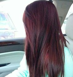 Dark Red Hair Color-dark red and red hair colors - New Hair Hair Color And Cut, Hair Color Dark, Color Red, Cherry Cola Hair Color, Cherry Red, Cherry Coke Hair, Winter Hair Colour, Dark Red Hair With Brown, Cherry Brown Hair