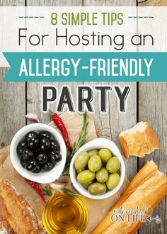 You've got to try these tips for hosting an allergy-friendly party that everyone will love (and have plenty to eat). Dairy Free Diet, Dairy Free Recipes, Paleo Recipes, Real Food Recipes, Gluten Free, Healthy Appetizers, Healthy Snacks, Healthy Eating, Dairy Free Brownies