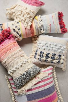 The texture and colors of these pillows in amazing....