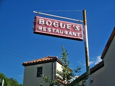 Bogue's Sign Returns! They have the old sign back up outside of Bogue's. It doesn't light up anymore, but then there was not much left that could light up back in the day. It is however now much higher. By Terry McCombs