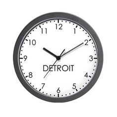 747daa78d DETROIT Modern Newsroom Wall Clock on CafePress.com Modern Clock, Dream  Decor, Hanging