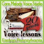 http://coremelodyvoicestudio.com -Announcing my new Website for the voice studio.  I've been teaching voice for 20 years and now my studio is located in Easton -Lehigh Valley-Pennsylvania.