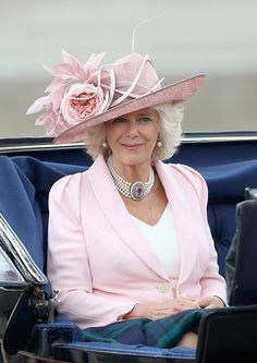 Camilla, Duchess of Cornwall travels by carriage during Trooping the Colour - Queen Elizabeth II's Birthday Parade, at The Royal Horseguards on June 2014 in London, England. English Royal Family, British Royal Families, Camilla Parker Bowles, Camilla Duchess Of Cornwall, Duchess Of Cambridge, Queen Elizabeth Ii Birthday, Queen Hat, Style Royal, Elisabeth Ii