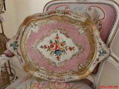 GORGEOUS Pink Italian Florentine Tray Hollywood by chictrezures
