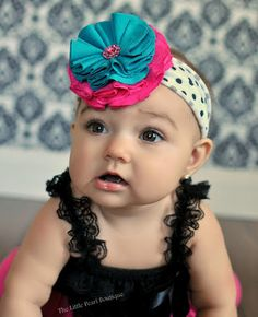 Baby Girl Headband  Baby Headband  Hot Pink by LittlePearlBoutique, $17.00