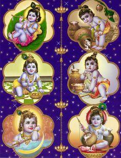Krishna Leela Krishna Leela - Hindu Posters (Reprint on Paper - Unframed) Krishna Leela, Krishna Hindu, Cute Krishna, Jai Shree Krishna, Krishna Radha, Iskcon Krishna, Lord Krishna Images, Krishna Pictures, Hindus