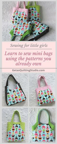 Learn to sew mini bags using the bag patterns you already own.