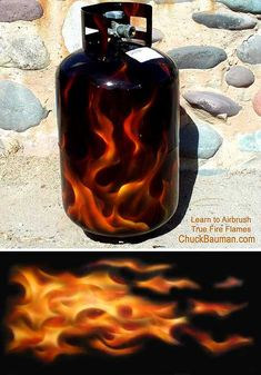 Grill Gas Flash: 15 Prettily Painted Propane Tanks Photo