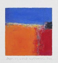 Il s'agit d'une peinture à l'huile abstraite par Hiroshi Matsumoto Titre : 11 avril 2018 Taille : 9,0 cm x 9,0 cm (environ 4 x 4) Toile taille : 14,0 cm x 14,0 cm (env. 5,5 x 5,5) Technique : Huile sur toile Année : 2018 Peinture est feutré en écru pour s'adapter à cadre standard 8