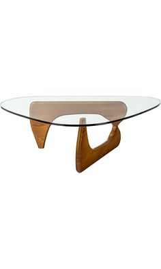 Poly and Bark Isamu Noguchi Style Coffee Table, Walnut Best Price