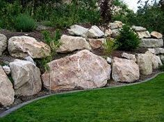 Image result for natural boulder retaining wall