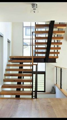Best Modern White Oak And Steel Staircase Luxe Halls 640 x 480