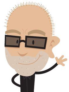 Avatar gezeichnet von Ricardo Gimenes nach einem Originalfoto. Die Frisur stimmt, die Brille nicht immer ...