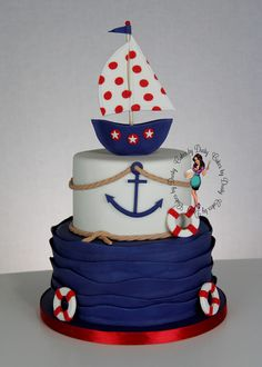 Baby Shower Nio Birthday Amazing Cakes I Could Never Make These Bakers Have . Decoration Theme Marin, Baby Shower Themes, Baby Boy Shower, Sailor Cake, Sailor Theme, Boat Cake, Nautical Cake, Nautical Theme, Nautical Baby Shower Cakes