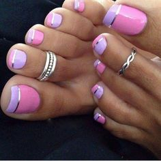Nagels roze-paars