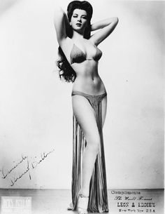 """Sherry Britton (1918-2008); born Edith Zack in New Brunswick, NJ, she was a burlesque performer until the 1940s when it was banned in NYC. Standing at 5'3"""" with an 18"""" waist, Sherry would peel herself out of chiffon gowns to Tchaikovsky and balance glasses of water on her breasts. She appeared in 39 plays, was made an honourary Brigadier General by Franklin Roosevelt during WWII and received a degree Magna Cum Laude from Fordham University, at the age of 63. Known as one of the last…"""