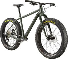 Fat and fast. Looking for a fat bike without all the fat? Lightweight construction and nimble OutFront geometry make the Cannondale Fat CAAD 1 bike impressively agile and quick. New Bicycle, Bicycle Rack, Truck Bike Rack, Minions 4, Cannondale Bikes, Bike Shelf, Green Clay, Fat Bike, Bottom Bracket