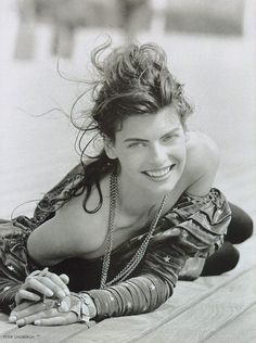 Linda Evangelista, by Peter Lindbergh, Vogue Magazine UK, August 1988