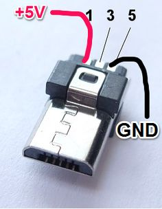 micro usb power plug wiring