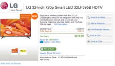 Save $50 on purchase of the LG 32 Inch LED Smart TV 32LF595B + $125 promo eGift card. Free shipping! The offer ends 27/07/2015.
