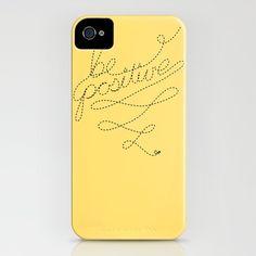 Be Positive iPhone case   by Jason Bergsieker