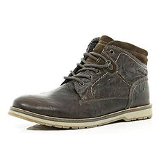 eaca8c22d437b6 Dark brown lace up boots £60.00 Mens Clothing Sale