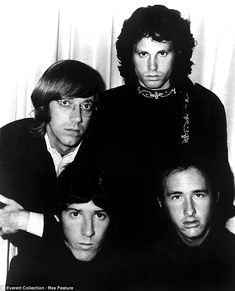 RIP Ray Manzarek-------The Doors: Ray in glasses, the charismatic Jim Morrison in rear and drummer John Densmore, bottom left, and guitarist Robby Krieger formed the Los Angeles rock band