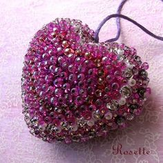 ~ Seed Bead Heart ~ by wendy