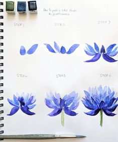 TUTORIAL!  Today I decided to share a step by step tutorial of a lotus flower with you guys! Hope you like it.  If you try this…