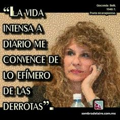 #EfemérideLiteraria En 1948 nace #GiocondaBelli #Literatura #Poesía #Novela #LaMujerHabitada www.sombradelaire.com.mx